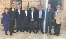 لقاء بين أعضاء لائحة المستقبل والحزب الاشتراكي بالبقاع الغربي وراشيا