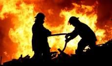 النشرة: إندلاع النيران في أحد منازل المشاريع الزراعية في ارزي