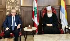 الشيخ نعيم حسن يبحث مع زواره الاوضاع في لبنان