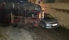 النشرة: انقلاب شاحنة في تعمير حارة صيدا والاضرار مادية