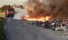 النشرة: اندلاع حريق بمستوعبات نفايات على طريقة صيدا البحرية