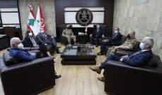 قائد الجيش شكر رئيس مؤسسة Mérieux على مبادراته المتكررة لدعم المؤسسة العسكرية