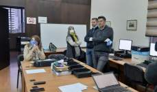 نجم اطلعت على آلية العمل في غرفة عمليات نقابة المحامين