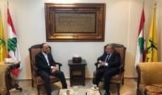 قيصر عبيد التقى عمار الموسوي: لا للتدخل الأميركي السافر في شؤون لبنان