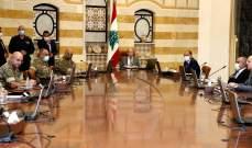 الرئيس عون أكد ضرورة الاستمرار بإزالة آثار انفجار المرفأ وتوفير المساعدات للمتضررين