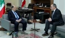 الرئيس عون عرض مع أسود للأوضاع العامة في البلاد وحاجات منطقة جزين