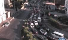 حركة المرور كثيفة من برج المر باتجاه شارع الحمرا