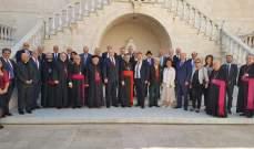 الراعي عرض مع عدد من  أركان المؤسسة المارونية للانتشار الأوضاع العامة في لبنان