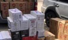 جمارك طرابلس أوقفت فان يحوي مواد غذائية مهربة وتوقيف سائقه