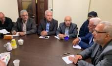 قماطي التقى قادة فصائل هيئة العمل الفلسطيني المشترك