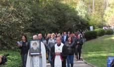 الذكرى الثانية لتشييد أول مزار للقديس شربل في الولايات المتحدة ميريلاند
