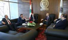 الصراف بحث مع فيلفارو في حاجات البحرية اللبنانية من المراكب والتجهيزات