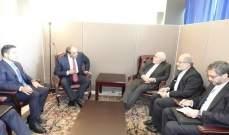 ظريف بحث مع نظيره الكويتي القضايا الاقليمية خاصة ازمة اليمة
