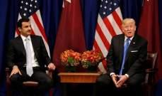 امير قطر وترامب يبحثان الوضع في العراق وسبل تخفيف التوتر