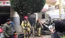 إخماد حريق داخل مستودع تجاري في الغبيري وآخر شب بأعشاب ونفايات في الفنار