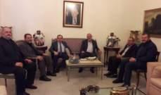 البزري يلتقي وفداً سياسياً من حزب الله