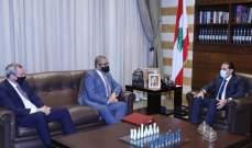 الحريري عرض مع كليفرلي الاوضاع السياسية والمستجدات