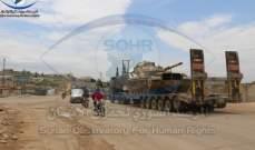 المرصد السوري: 20 آلية تركية تحمل مواد لوجستية وعسكرية دخلت من معبر كفرلوسين