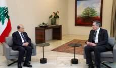 الرئاسة اللبنانية: أديب أطلع عون على الاتصالات التي أجراها ولم يقدم أي صيغة للحكومة