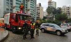اطفاء بيروت تسيير دوريات في شوارع العاصمة وخارجها لتأمين السلامة العامة للمواطنين