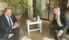 السفير الفلسطيني يلتقي نظيره البريطاني في لبنان