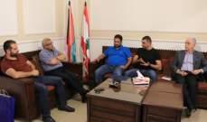 سعد عرض أوضاع صيدا مع وفد حزب سبعة