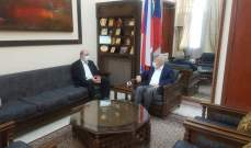 تامر ناقلا عن زاسبكين: روسيا حريصة على لبنان والنظام الديمقراطي والأمن فيه