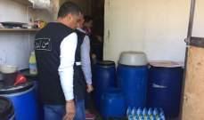 بلدية المرج: تلف مواد اولية لصناعة مواد تنظيف لعدم استيفائها الشروط