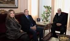 عبد الساتر استقبل نقيب المحامين ومدير عام الجمارك