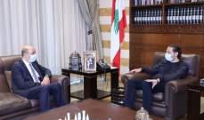 الحريري التقى السفير التركي في زيارة وداعية