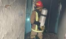 الدفاع المدني أخمد حريقا شب في احد المنازل في بلدة قب الياس
