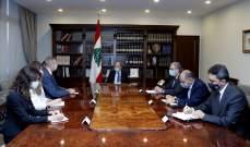 الرئيس عون عرض مع كوبيتش الاوضاع العامة والمفاوضات حول ترسيم الحدود البحرية الجنوبية