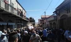 مدينة راشيا تشيع الشهيد قيصر أبو مرهج الذي سقط بانفجار بيروت