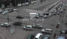حركة المرور كثيفة من المدينة الرياضية باتجاه الكولا وصولا لنفق سليم سلام