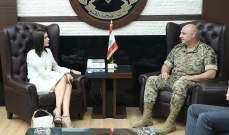 جعجع التقت قائد الجيش واكدت دعمها الثابت للمؤسسة العسكرية