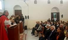 المطران روحانا: نصلي من اجل وحدة اللبنانيين لاننا نريد وطنا يضم الجميع