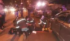 الدفاع المدني: جريح جراء حادث صدم على طريق المتحف