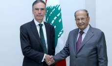 الرئيس عون عرض مع موريسون للعلاقات الثنائية والدعم البريطاني للبنان والتقى الأب دكاش