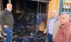 كبارة تفقد محلا ومستودعا احترقا بصاعقة في طرابلس ودعا هيئة الإغاثة للتعويض