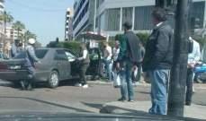 النشرة: جريح في حادث سير على تقاطع ايليا في صيدا