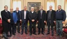 المطران عبد الساتر يستقبل وزير المهجرين على رأس وفد من أهالي الشوف