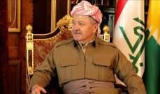 بارزاني: استفتاء كردستان ليس ورقة ضغط وإنما طريقنا للاستقلال