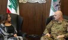 عكر وقائد الجيش عزيا ذوي شهداء الجيش في الهرمل وعرسال