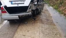 5 جرحىبحادث سير على طريق عام حاصبيا