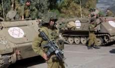 الجيش الاسرائيلي يعلن استهداف مجموعة مسلحة تزرع عبوات ناسفة عند الحدود مع سوريا