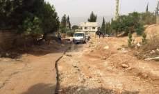 أضرار على طريق كفرنبرخ معاصر بيت الدين بسبب الامطار