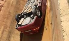 النشرة:تدهور سيارة على طريق كفركلا وارتطامها بالجدار بين لبنان وفلسطين