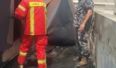 فوج اطفاء بيروت : السيطرة على حريق خزان مازوت على سطح أحد الأبنية في كورنيش المزرعة