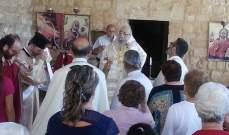 كرياكوس ترأس قداس عيد مار يوحنا المعمدان في أنفه