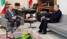 طرابلسي ينقل لعون رفض مالكي العقارات بالمخيمات الفلسطينة وخارجها للتوطين